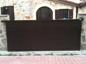 aluminio-soldado Puerta garaje GADELUM